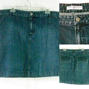 Tommy Hilfiger Denim Skirt Blue XXL 16 Cotton